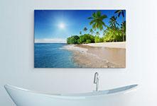 Foto su tela bagno_esempio spiaggia tropicale