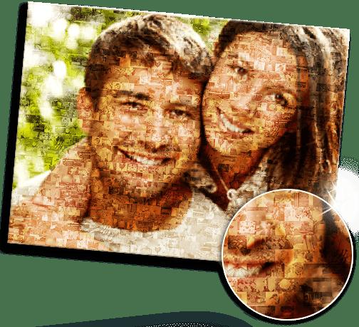 Idee foto mosaico su plexiglass_esempio coppia