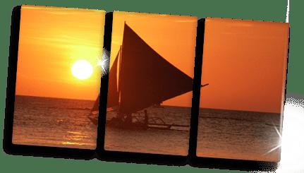 Idee trittico su plexiglass_barca a vela