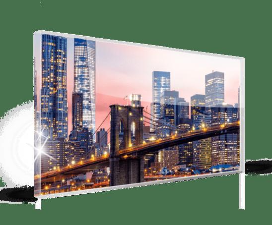 Plexiglass panorama landing_esempio ponte skyline