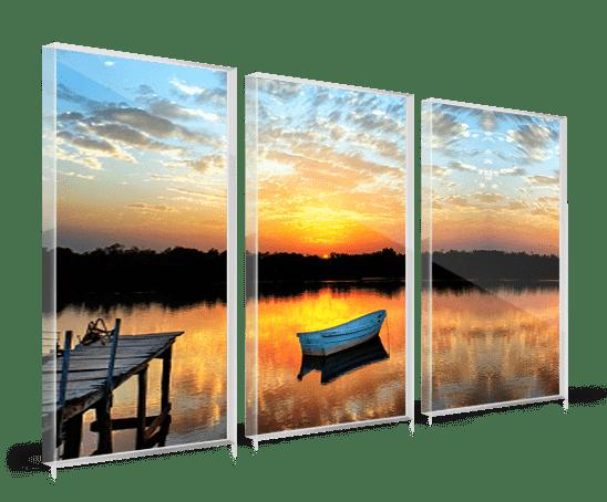 Plexiglass trittico_esempio barca lago