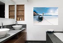 Poster in bagno_esempio barca mare thai