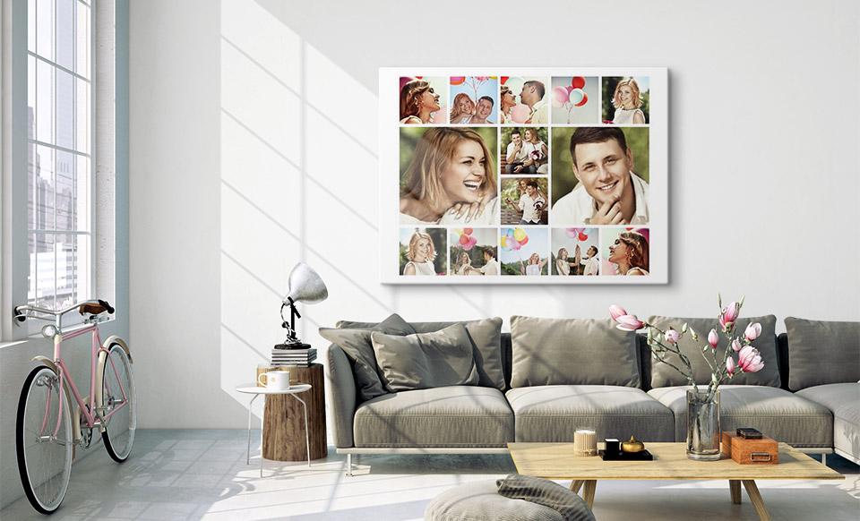 collage foto spazio di vita