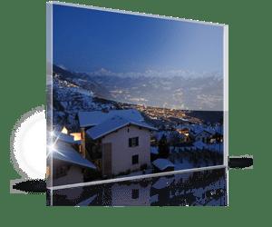 foto su plexiglass per natale 2_esempio case con neve