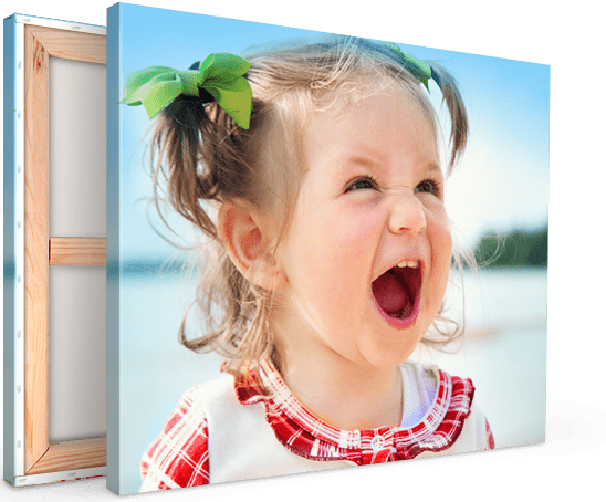 foto su tela landing_esempio bambina che urla
