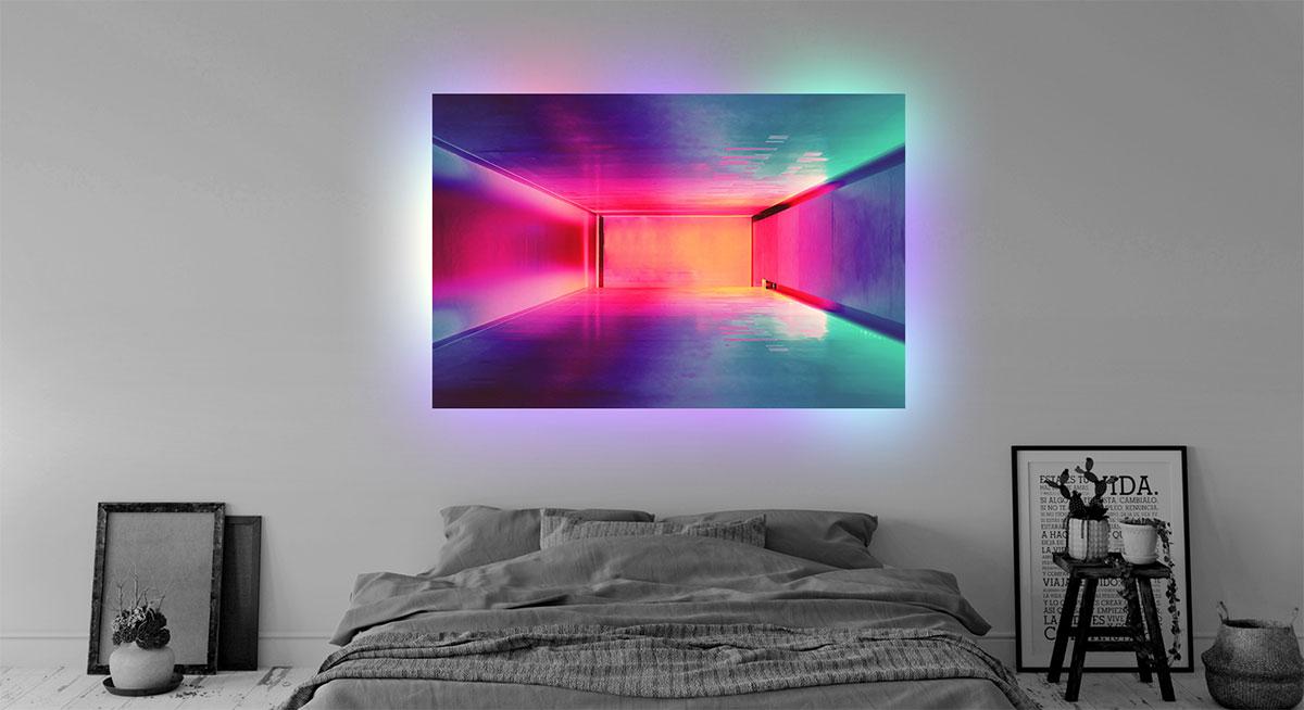 illumina foto su plexiglass
