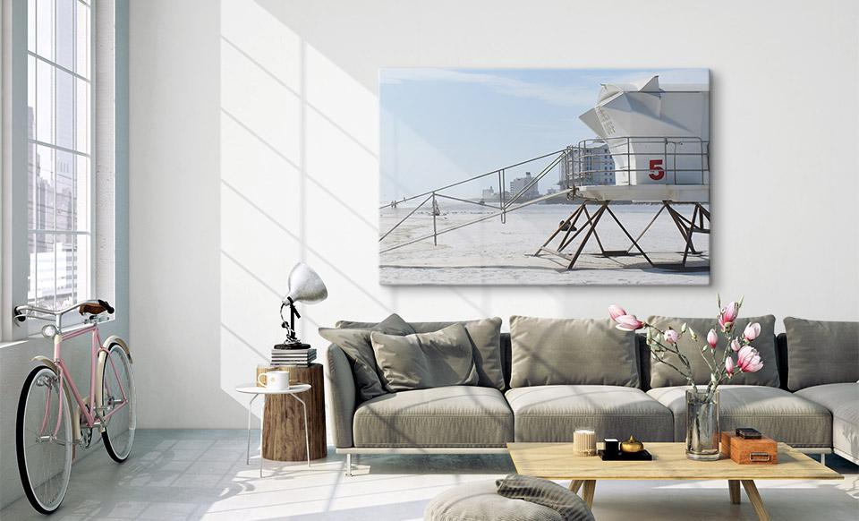 stampa foto su vetro spazio di vita