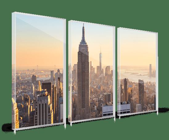 stampa plexiglass multipannello skyline