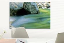 stampa su plexiglass soggiorno_esempio acqua fiume